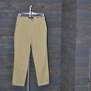 Gloria Vanderbilt Yellow Amanda Jeans Pants, 10
